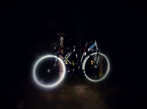 glowing bike