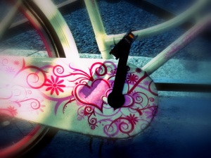 paris bike pink heart2